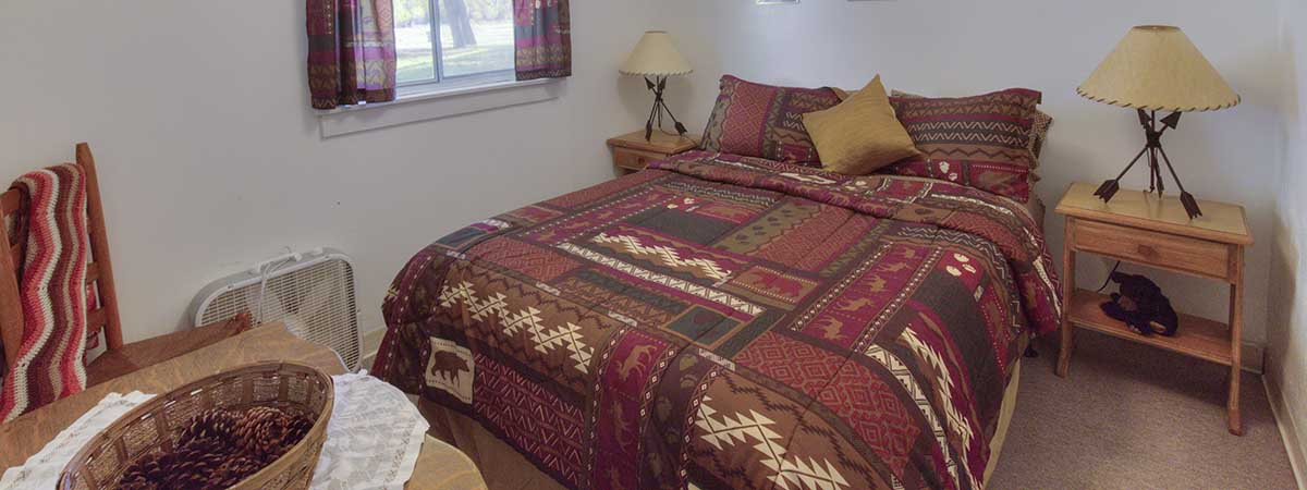 Queen Bedroom of Cabin Four