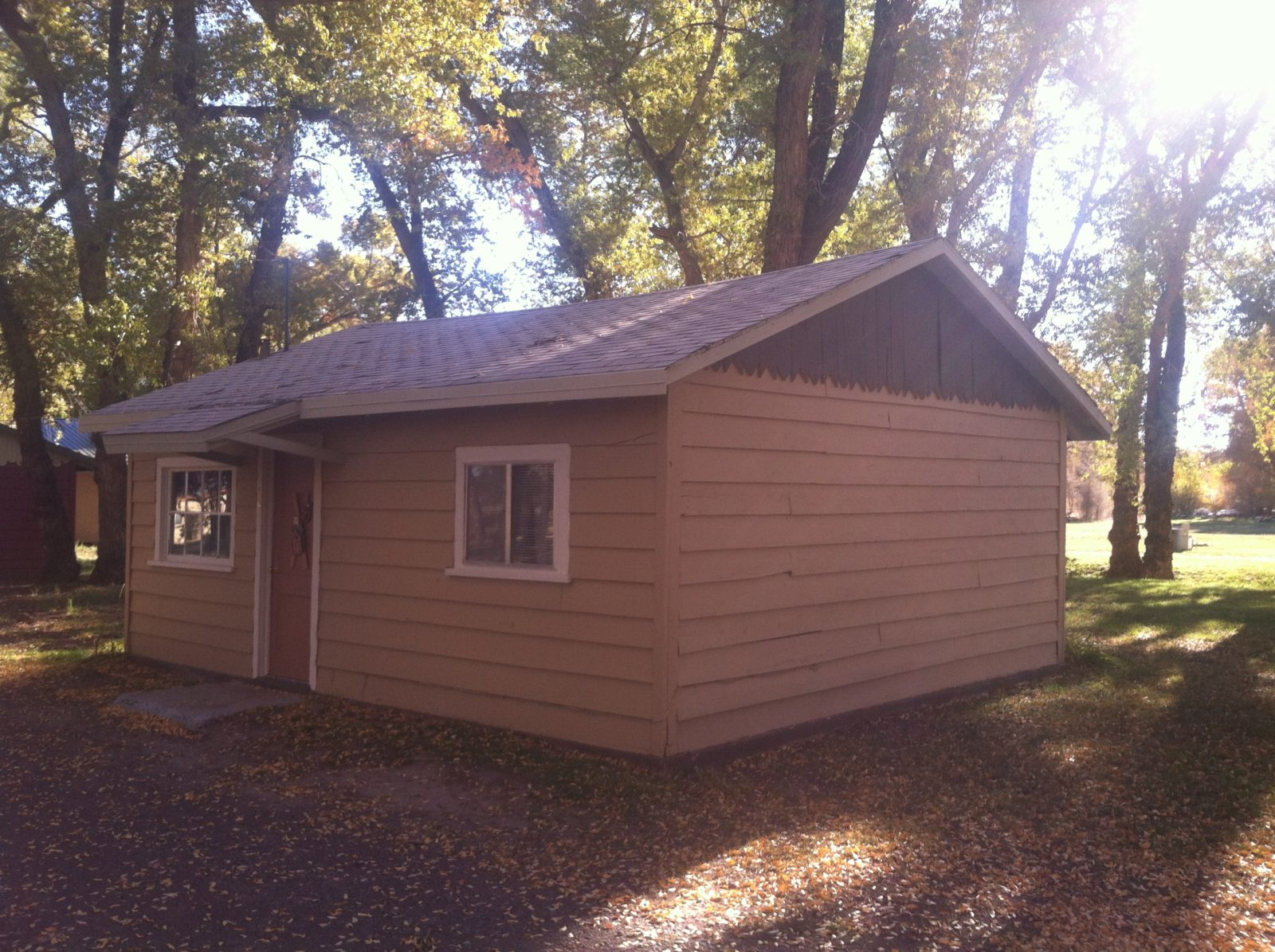 Cabin Four at at Twin Rivers Cabins and RV Park on the Conejos River in Antonito, Colorado.