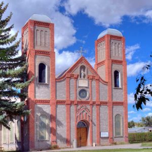 Picture of the oldest church in Colorado, Our Lady of Guadalupe in Conejos, Colorado